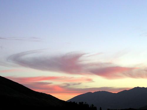 sunset newzealand vacation