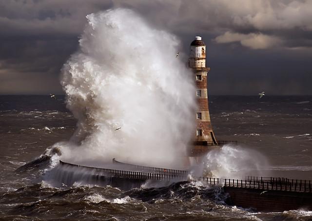 Roker lighthouse Sunderland UK