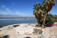 Nice view.  North Shore Yacht Club abandoned pool at the Salton Sea