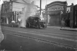Street work on East Pike, 1926