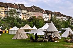 Zeltlager vor der Stadt Wil, Heerlager, Mittelalter