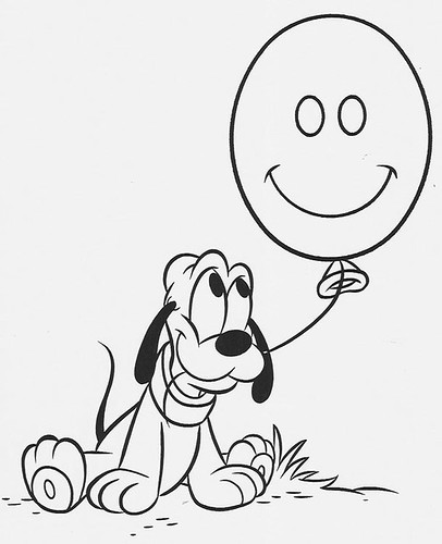Pluto disney baby imagui for Baby pluto coloring pages
