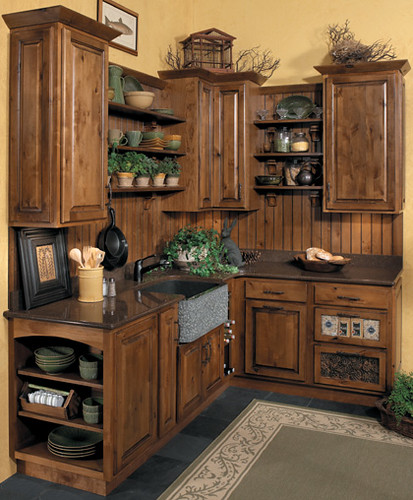 Rustic Kitchen Cabinets StarMark Cabinetry