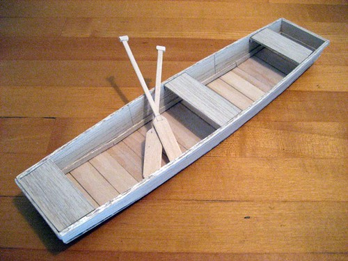 model of an ozarks johnboat