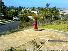 running down the zig zag trail in encinitas   DSC03307