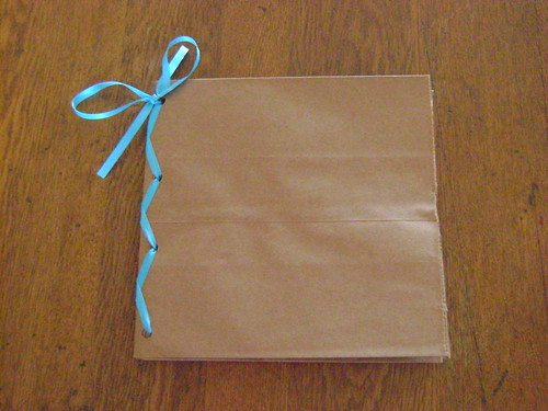 Ribbon to hold Paper Bag Album Together