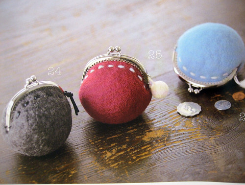 coin purse, 9784834727432 little things made of felt wool