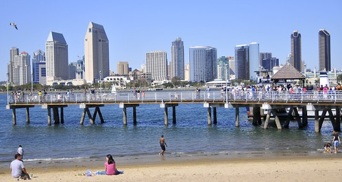 Looking towards San Diego from Coronado Shores