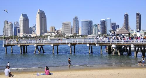 Looking towards San Diego from Coronado Shores