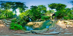 Central Park North Waterfall - Panorama/HDR