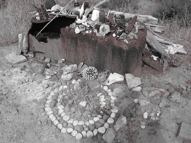 altar of found objects
