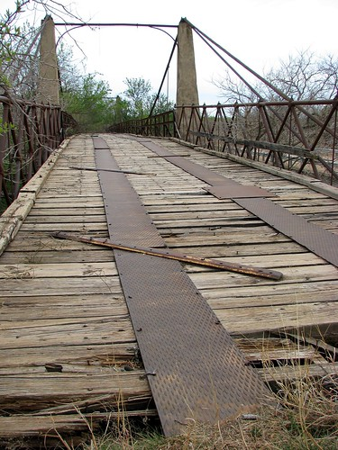 bridge abandoned texas suspensionbridge woodenbridge woodson northtexas historicbridge clearfork brazosriver shackelfordcounty abandonedbridge mlhradio woodsonsuspensionbridge