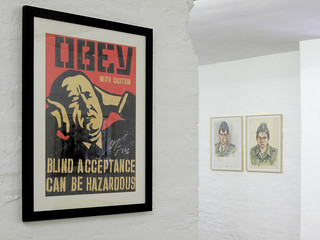 Shepard Fairey and Juergen Wittdorf at the Vorwaerts! Exhibition