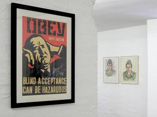 Shepard Fairey and Juergen Wittdorf at the Vorwaerts! Exhibition