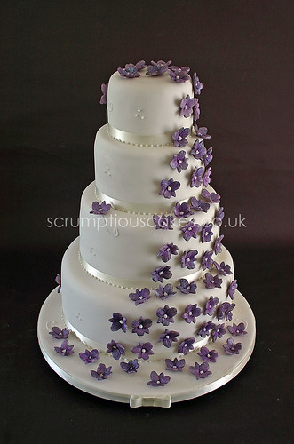 Wedding Cake (613) - Cascading Sugar Orchids