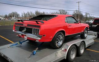 1970 Ford Mustang Mach I - red - rvr