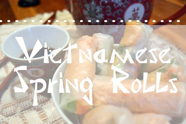 Vietnamese spring rolls title
