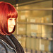Small photo of New hair color - Red bob