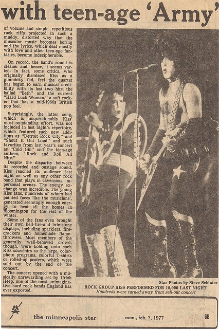 02-07-77 Minneapolis Kiss Review (Part 2)