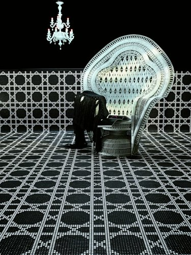 Black Amp White Mosaic Tile Vienna Design This Black And
