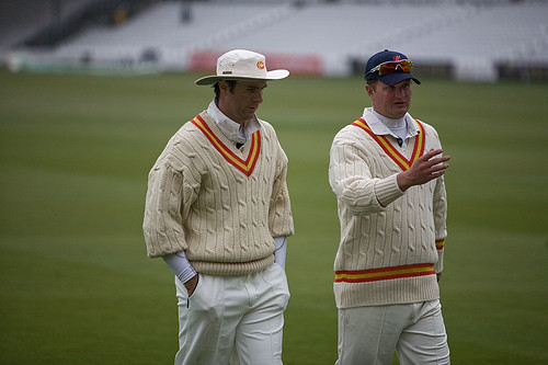 Michael Vaughan and Rob Key