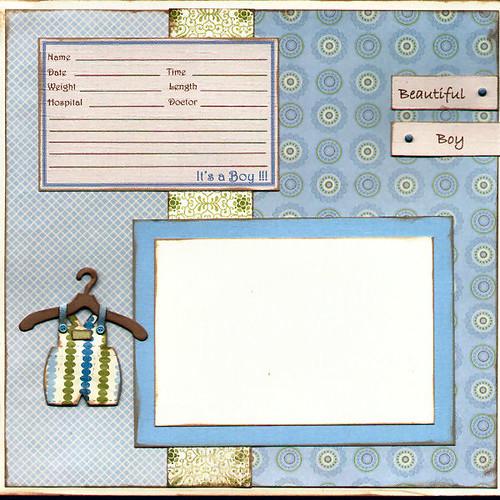 Baby Boy Birth Announcement Scrapbook Page Flickr