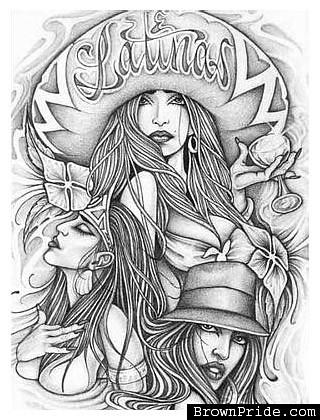Latinas chola drawing Flickr Photo Sharing