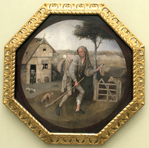 Museum Boijmans van Beuningen - De Marskramer, Jeroen Bosch, met lijst