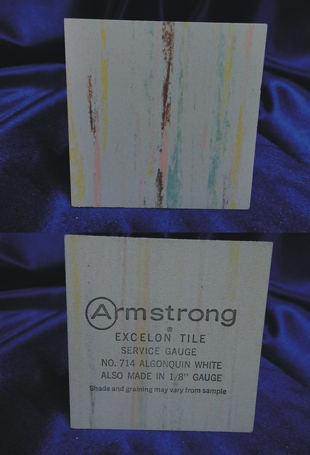 Armstrong Excelon Vinyl Asbestos Floor Tile Sample 714