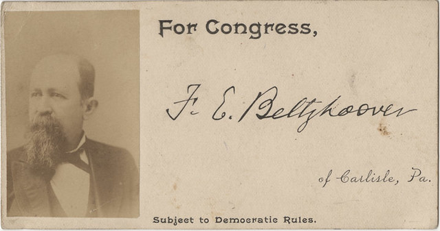 F. E. Beltzhoover For Congress - Calling Card