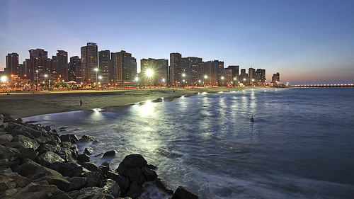 city brazil urban beach brasil coast twilight dusk fortaleza ceara worldcup2014