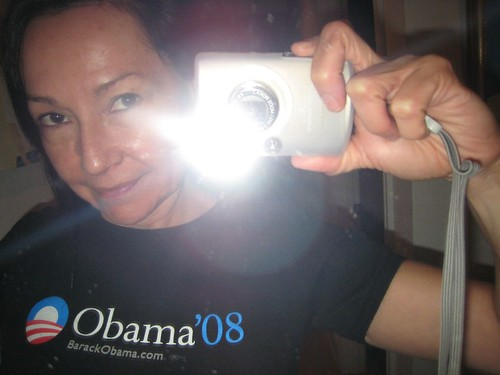 self portrait, january 20 2009, obama tee shirt IMG_7480