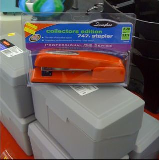Collectors edition red swingline stapler on clearance at officemax