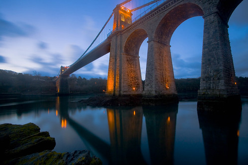 First Light At Menai Bridge