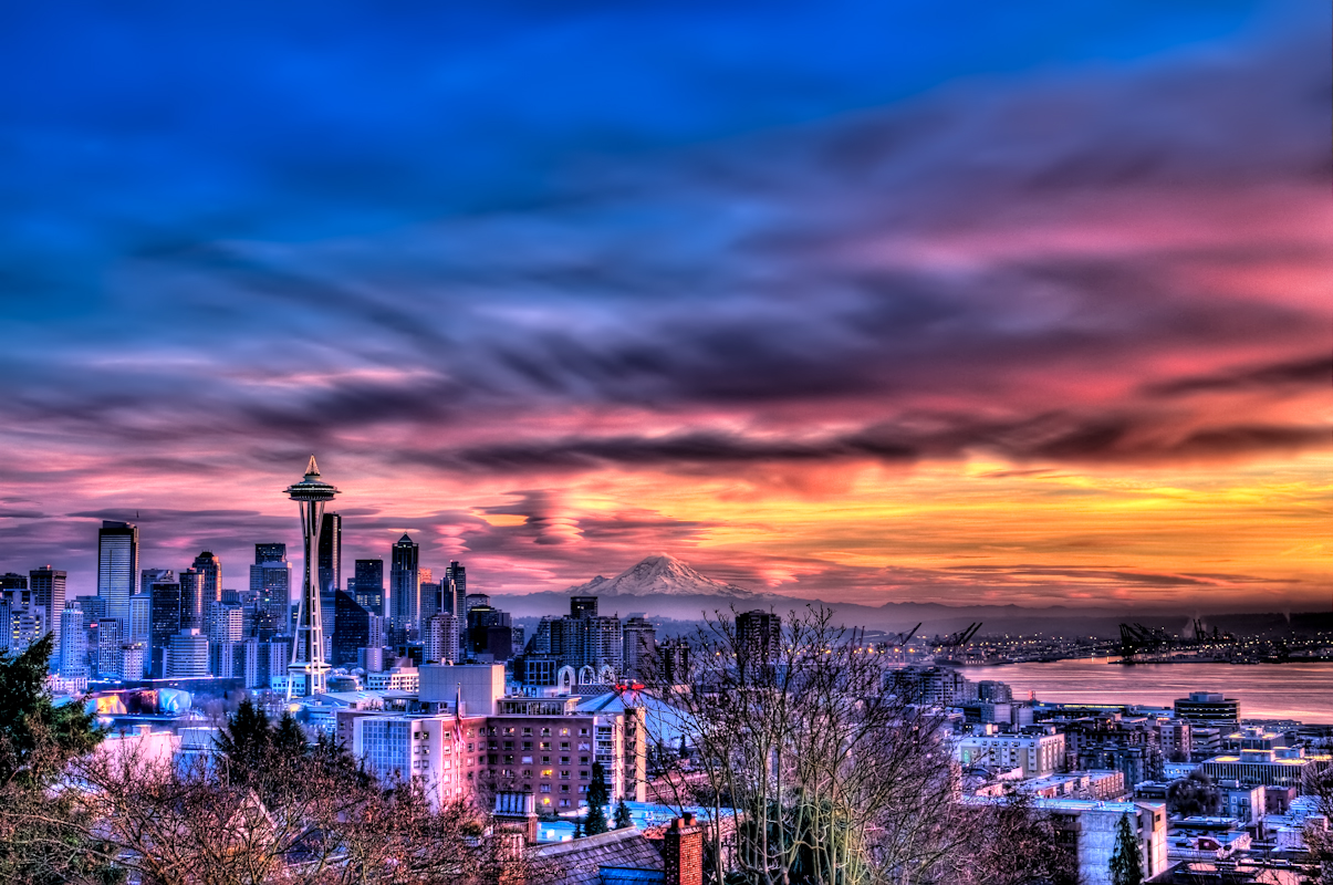 sunset on the seattle - photo #2