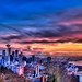 Blazing Seattle Sunset - Wide
