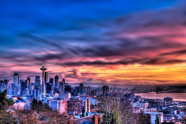 Seattle Sunset by mawntana (Photo) | Weather Underground
