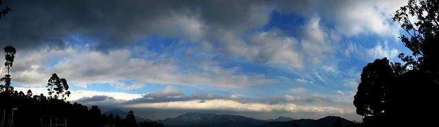 panorama of munnar sky