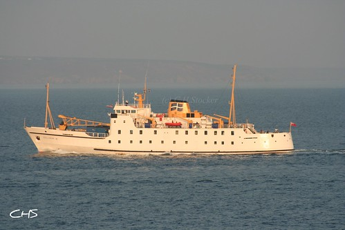 Scillonian III, heading to Penzance from the Isles of Scilly by Stocker Images