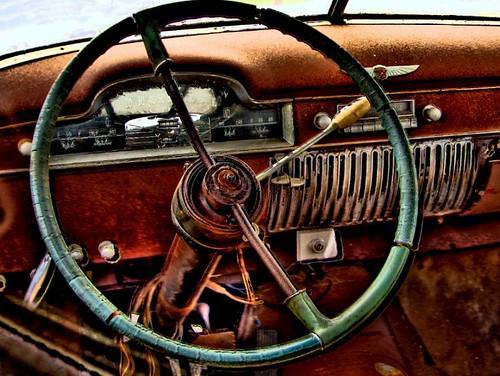 Old car dash