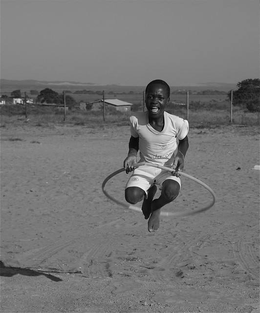 Children playing at the orphanage in Ezwenelisha