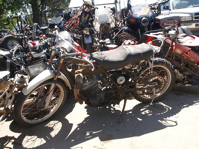 motorcycle salvage yards Land's Cycles 2010 Bone yard junkyard parts