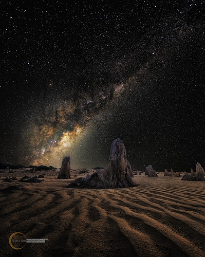 Milky Way On Mars, Pinnacles Western Australia by Scott Jon Photography