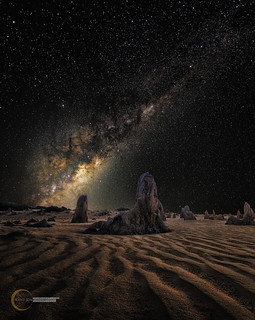 Milky Way On Mars, Pinnacles Western Australia