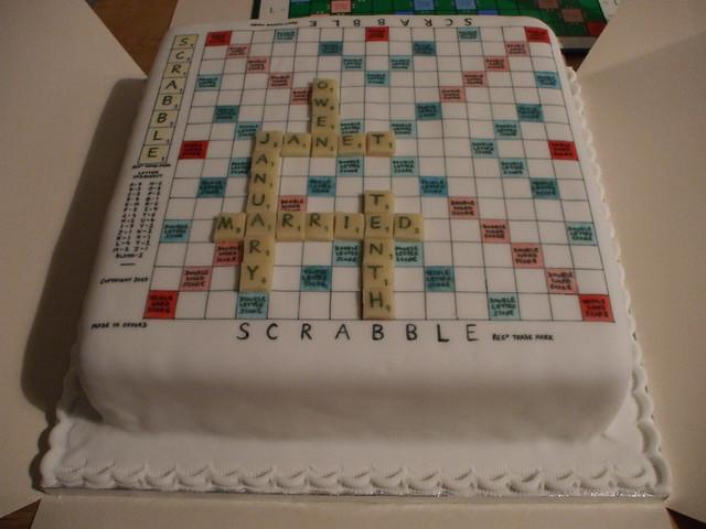 Scrabble Cake Decorations