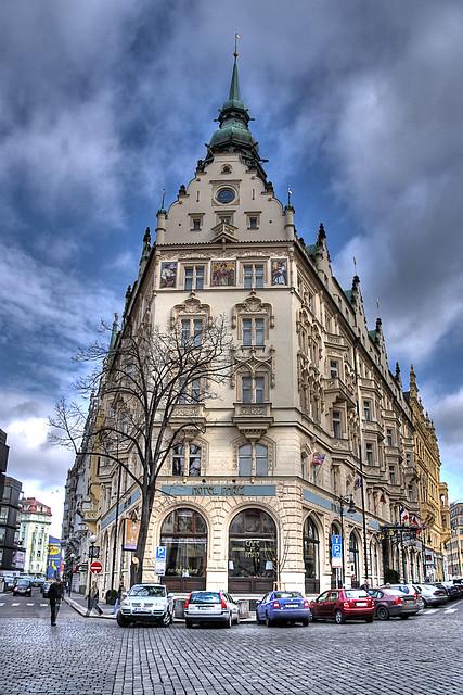 Hotel De Pariz Prague Czech Republic Hdr Shot Of The