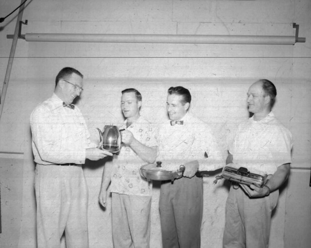 1955 THREE SLOGAN WINNERS AND THEIR PRIZES