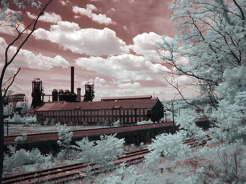 Carrie Furnace.digital infrared by John Fobes