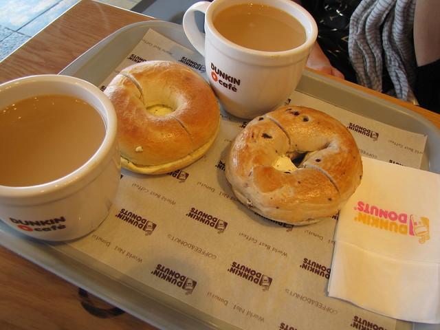 Bagels at Dunkin Donuts