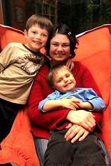 rachel and her boys